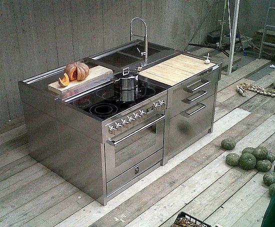 Bij de Steel Genesi lijn is het ook mogelijk om het kookgedeelte van inductie of keramisch kookgedeelte te voorzien.