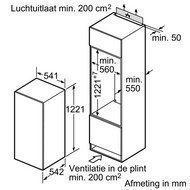 Opmeten van een inbouw koelkast