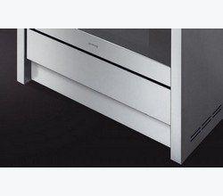 Met een plint welke onder de ovenlade bevestigd kan worden sluit u de open ruimte af