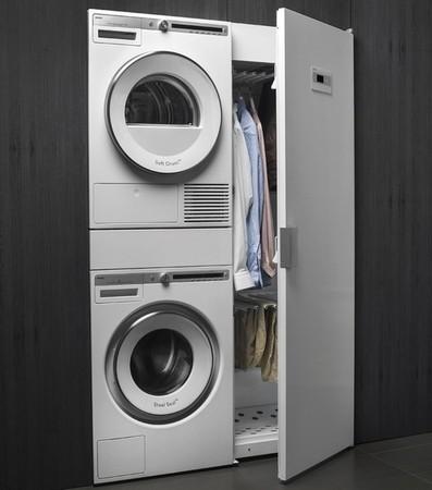 Fraai is de combinatie van de Asko DC7784V.W met bijpassende wasmachine en droger van Asko