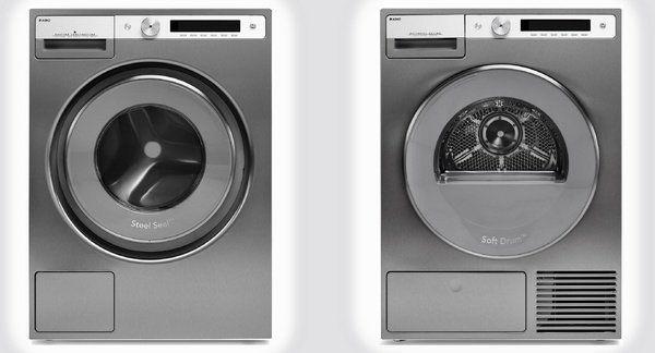 In de nieuwe Logic serie is ook een roestvrijstalen wasmachine met bijpassende wasdroger beschikbaar