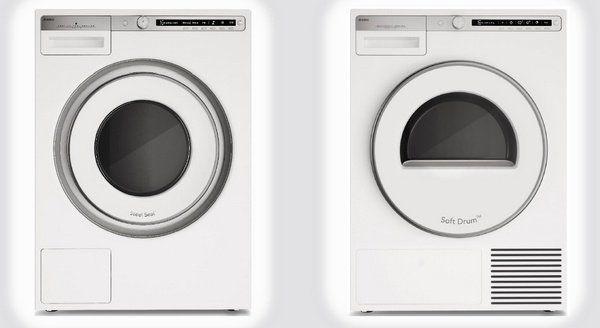 Afbeelding van de nieuwe Asko Logic wasmachine met bijpassende droger