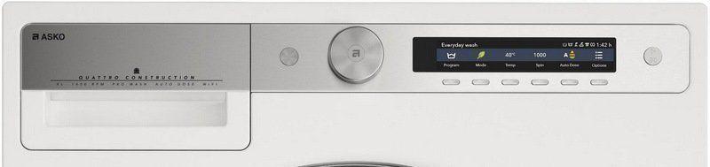 De bediening van de Asko wasautomaten is vernieuwd met de focus op eenvoud en overzicht