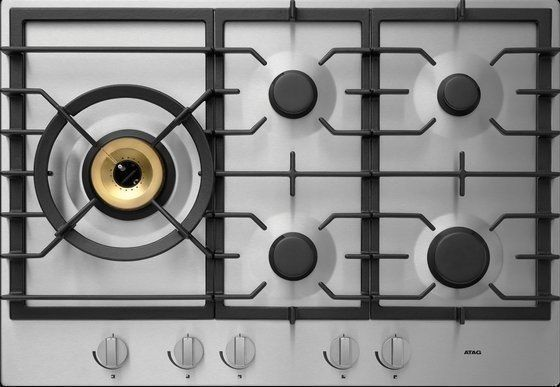 Alle gas kookplaten uit de Atag Matrix serie zijn uitgevoerd met de hoogrendement A+ branders
