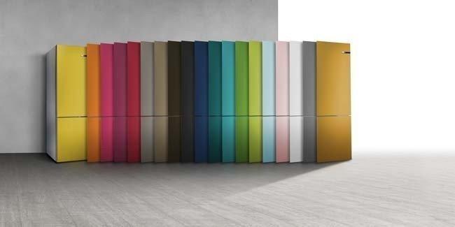 De VarioStyle koelkasten zijn leverbaar met 19 verschillende kleuren fronten