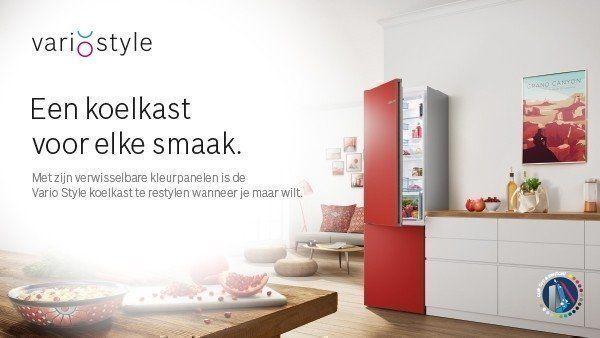 Bosch koelkasten in verschillende kleuren: Vario Style