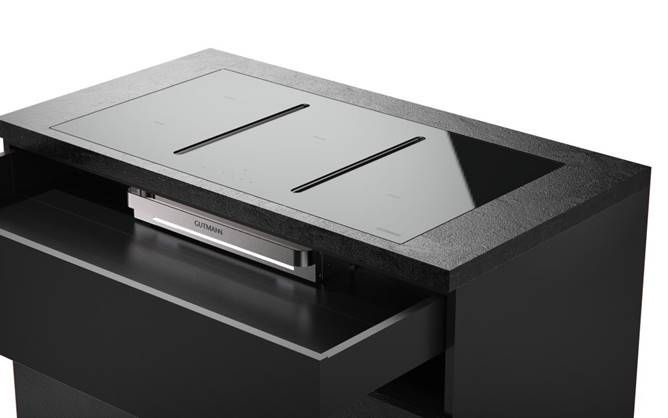 Praktisch is het feit dat deze 5-pits kookplaat ook geplaatst kan worden boven een keuken lade