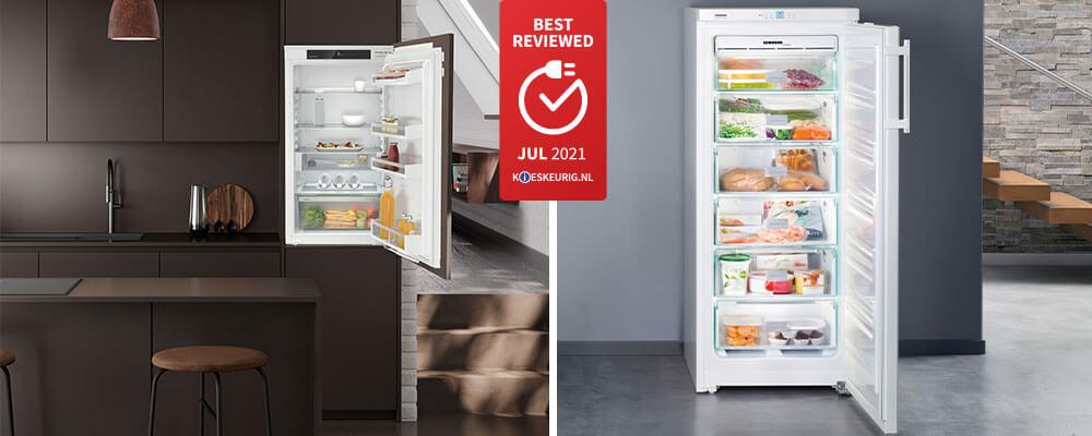 Best reviewed koelkasten van Liebherr in juli 2021