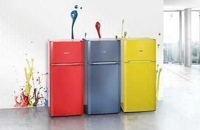 Uitbreiding van het Liebherr Colourline assortiment met drie gekleurde koelkasten van 124 cm hoog