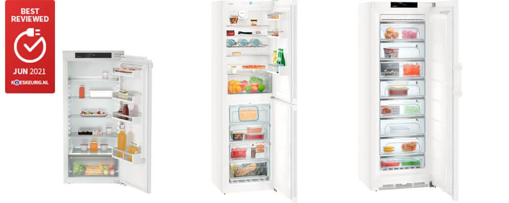 Best reviewed koelkasten van Liebherr in juni 2021