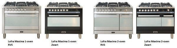 De Lofra Maxima serie fornuizen heeft een facelift gekregen