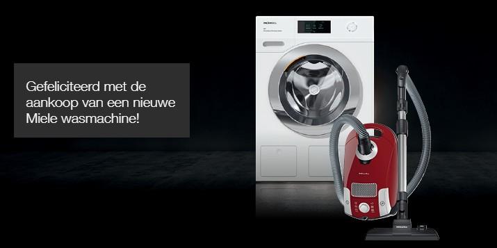 Gratis Miele stofzuiger bij actiemodel wasmachine van Miele