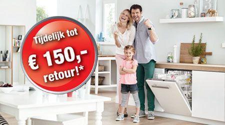 Tot 150 euro refund op Miele Active vaatwassers