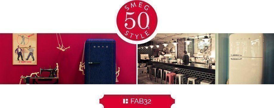 Smeg FAB32 koelkasten behorend tot het retro jaren '50 assortiment