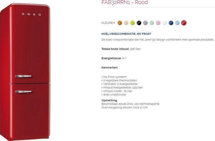 De exclusieve lijn Smeg FAB32 koelkasten met LowFrost systeem: meer inhoud in de vriezer, minder geluid