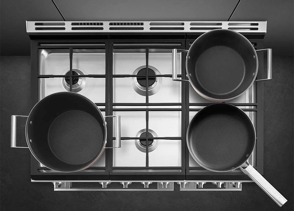 Smeg Portofino fornuis met gas kookplaat