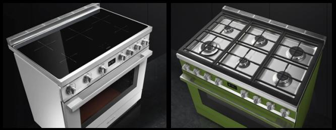 Naast de fornuizen met gas kookgedeelte zijn de Portofino fornuizen ook met inductie kookvlak leverbaar