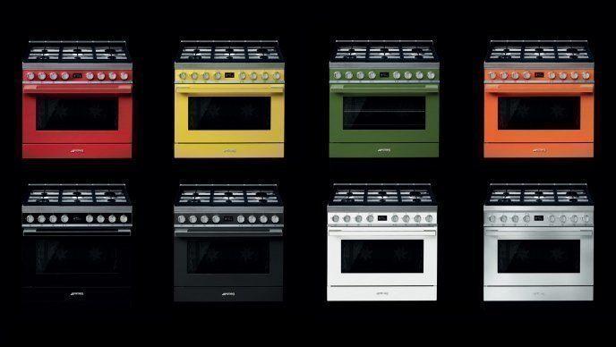 Fornuizen in kleur laten uw keuken spreken.