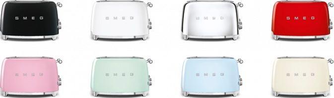 De nieuwe Smeg TSF03-serie is in veel kleuren leverbaar