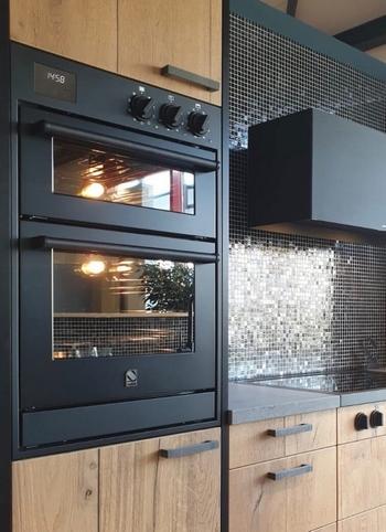 Steel All Black inbouw ovens