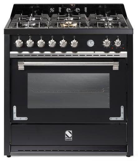 De klassiek vormgegeven Steel Oxford fornuis. Hier uitgevoerd in 100 centimeter breed met dubbele oven.
