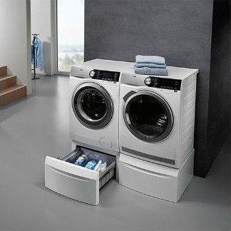 Tip: plaats uw voorlader wasmachine en droger op een sokkel !